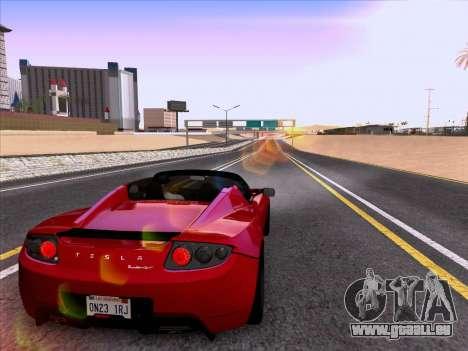 Tesla Roadster Sport 2011 pour GTA San Andreas vue de dessous