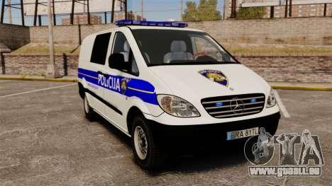 Mercedes-Benz Vito Croatian Police v2.0 [ELS] für GTA 4
