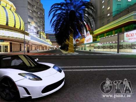 Tesla Roadster Sport 2011 pour GTA San Andreas laissé vue