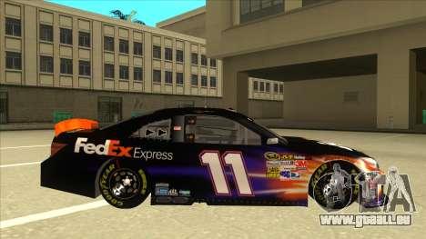 Toyota Camry NASCAR No. 11 FedEx Express für GTA San Andreas zurück linke Ansicht