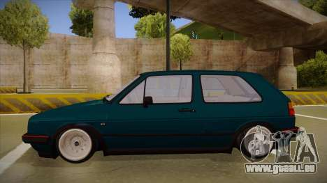 Volkswagen Golf MK2 Stance Nation by Razvan11 für GTA San Andreas zurück linke Ansicht