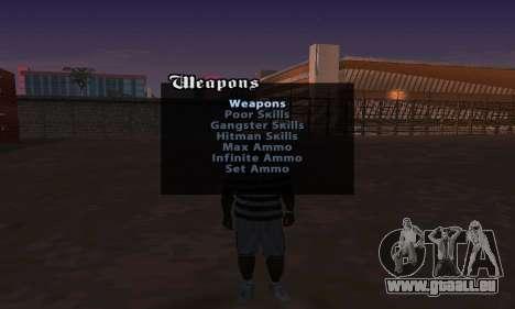 Cheat Menu für GTA San Andreas zweiten Screenshot
