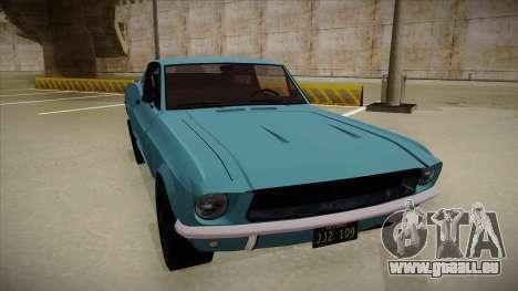 Ford Mustang pour GTA San Andreas laissé vue
