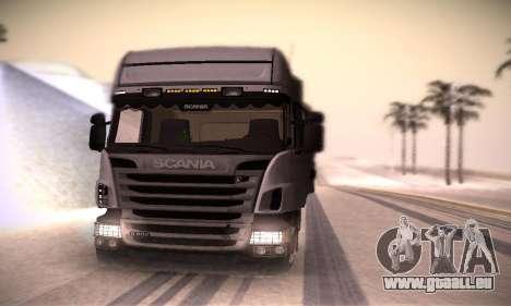Scania R500 Topline pour GTA San Andreas vue de droite