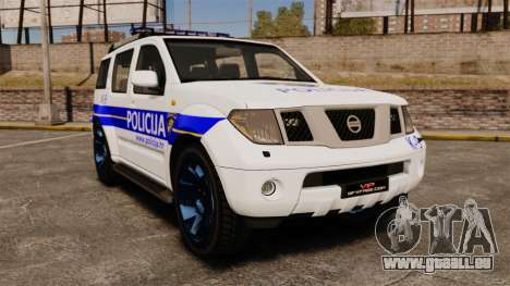 Nissan Pathfinder Croatian Police [ELS] für GTA 4