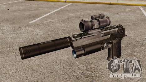 Pistolet d'aigle de désert (tactique) pour GTA 4 troisième écran