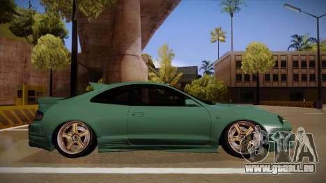 Toyota Celica GT4 pour GTA San Andreas sur la vue arrière gauche