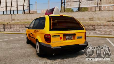 Dodge Grand Caravan 2005 Taxi LC für GTA 4 hinten links Ansicht
