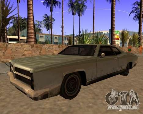 Buccaneer pour GTA San Andreas sur la vue arrière gauche