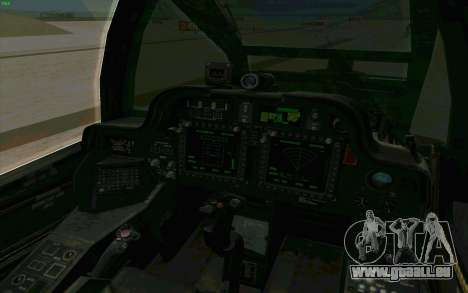 AH-64 Apache für GTA San Andreas Seitenansicht