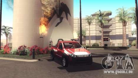 Fiat Strada Locker 2013 pour GTA San Andreas vue intérieure
