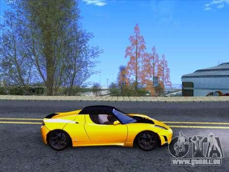 Tesla Roadster Sport 2011 für GTA San Andreas Rückansicht