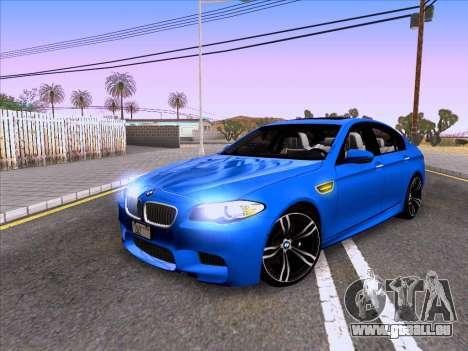 BMW M5 F10 2012 Autovista pour GTA San Andreas