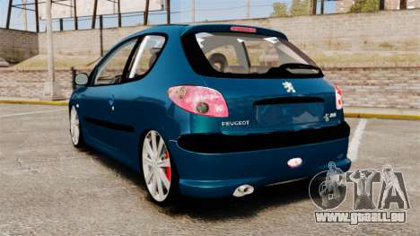 Peugeot 206 für GTA 4 hinten links Ansicht