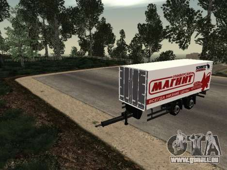 Trailer Mann Magnet für GTA San Andreas rechten Ansicht