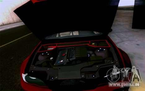 BMW M3 Cabrio pour GTA San Andreas salon