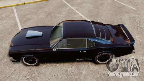 La nouvelle version de la GT de Sabre pour GTA 4 Vue arrière de la gauche