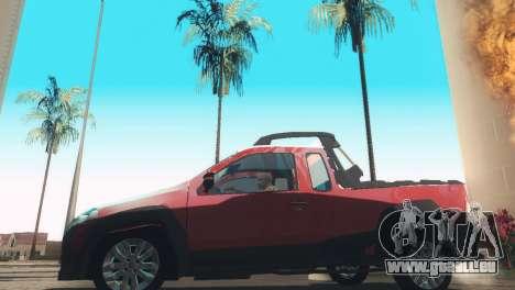 Fiat Strada Locker 2013 pour GTA San Andreas sur la vue arrière gauche