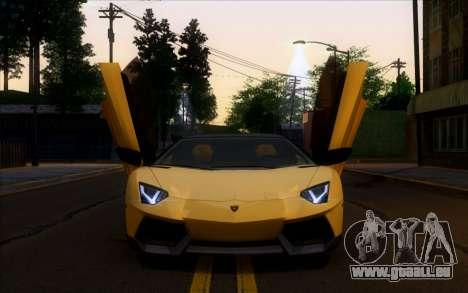 Lamborghini Aventador Vossen V2.0 Final pour GTA San Andreas laissé vue