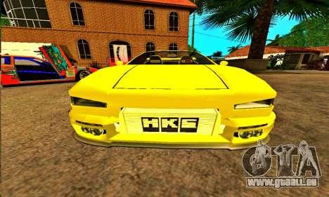 Infernus Cabrio Edition pour GTA San Andreas vue arrière