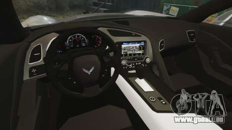 Chevrolet Corvette C7 Stingray 2014 für GTA 4 Innenansicht