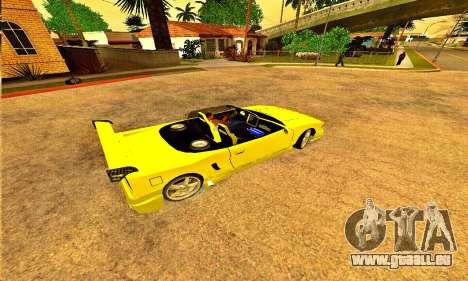 Infernus Cabrio Edition pour GTA San Andreas laissé vue