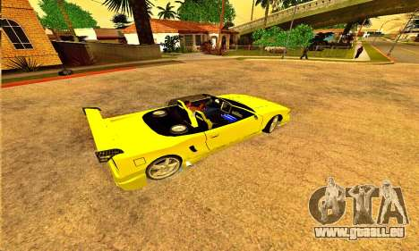 Infernus Cabrio Edition für GTA San Andreas linke Ansicht