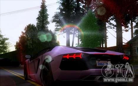 Lamborghini Aventador Vossen V2.0 Final pour GTA San Andreas vue arrière