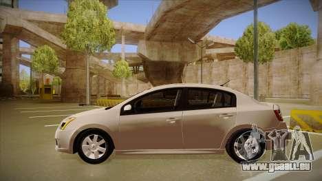 Nissan Sentra S 2008 pour GTA San Andreas sur la vue arrière gauche