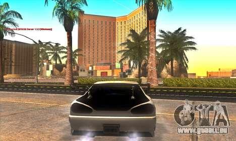 Elegy Drift Concept pour GTA San Andreas vue de dessous