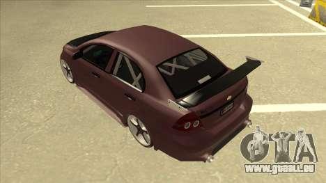 Chevrolet Aveo LT Tuning für GTA San Andreas Rückansicht