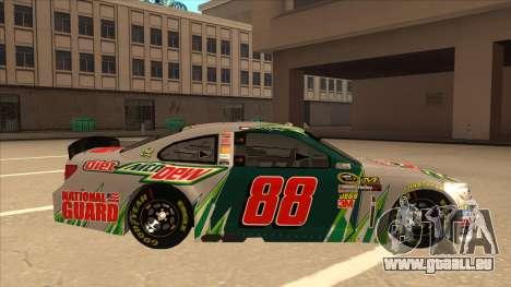 Chevrolet SS NASCAR No. 88 Diet Mountain Dew für GTA San Andreas zurück linke Ansicht