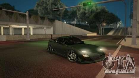 Mazda RX-7 STANCENATION pour GTA San Andreas vue de dessous
