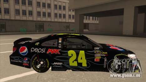 Chevrolet SS NASCAR No. 24 Pepsi Max AARP für GTA San Andreas zurück linke Ansicht