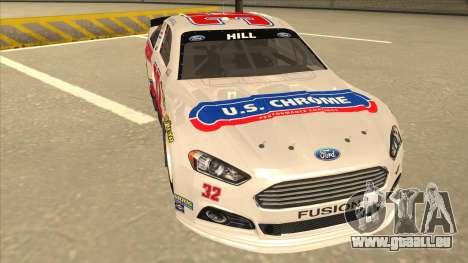 Ford Fusion NASCAR No. 32 U.S. Chrome pour GTA San Andreas laissé vue