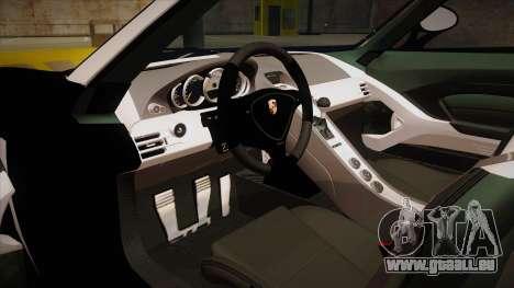 Porsche Carrera GT 2004 Police Black pour GTA San Andreas vue intérieure