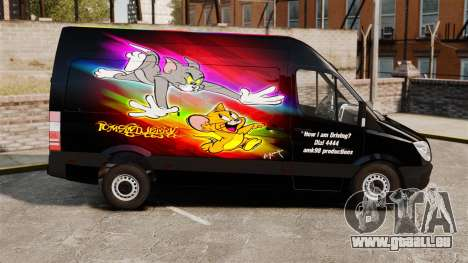 Mercedes-Benz Sprinter Tom and Jerry für GTA 4 linke Ansicht