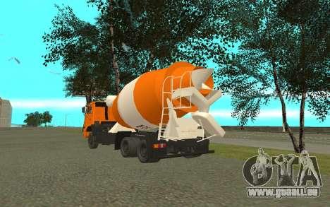KAMAZ 6520 ciment pour GTA San Andreas sur la vue arrière gauche