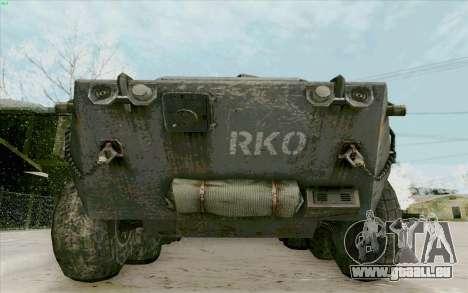 BTR-80 pour GTA San Andreas vue de côté