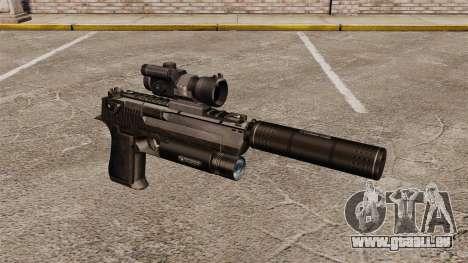 Desert Eagle Pistole (Taktische) für GTA 4