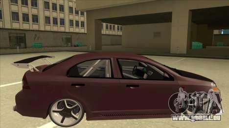Chevrolet Aveo LT Tuning für GTA San Andreas zurück linke Ansicht