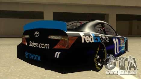 Toyota Camry NASCAR No. 11 FedEx Office für GTA San Andreas rechten Ansicht