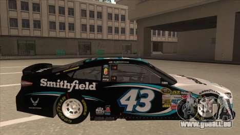 Ford Fusion NASCAR No. 43 Smithfield Foods pour GTA San Andreas sur la vue arrière gauche