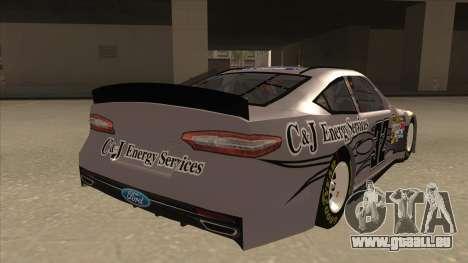 Ford Fusion NASCAR No. 32 C&J Energy services pour GTA San Andreas vue de droite