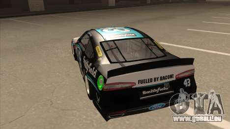 Ford Fusion NASCAR No. 43 Smithfield Foods pour GTA San Andreas vue arrière