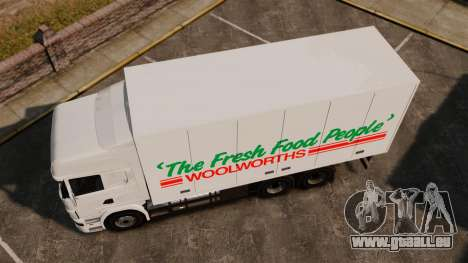 Scania R580 Tandem Woolworths für GTA 4 hinten links Ansicht