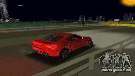 Subaru BRZ Type 1 pour une vue GTA Vice City de l'intérieur