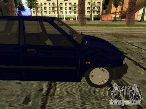 Kia Pride Hatchback für GTA San Andreas zurück linke Ansicht