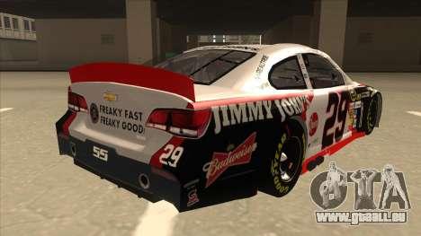 Chevrolet SS NASCAR No. 29 Jimmy Johns für GTA San Andreas rechten Ansicht
