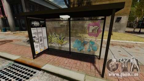 Neue Werbung an Bushaltestellen für GTA 4